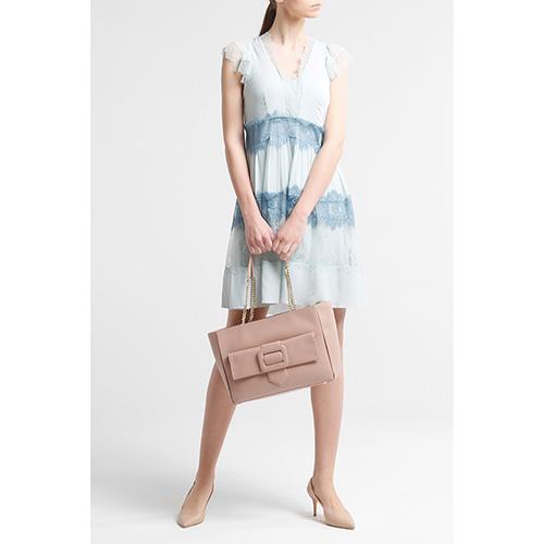 Голубое платье Twin-Set с кружевом, фото