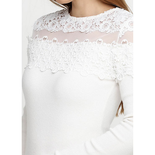 Белое платье-футляр Cashmere Company с длинными рукавами, фото