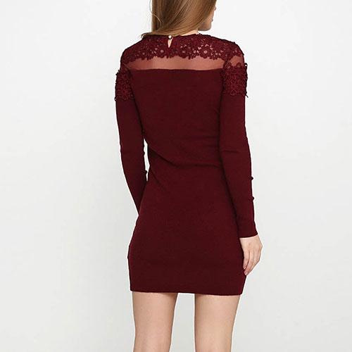 Коктейльное платье Cashmere Company бордового цвета, фото