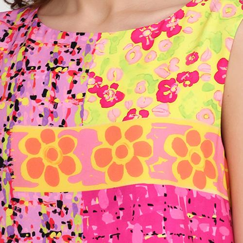 Разноцветное платье Boutique Moschino с ярким принтом, фото
