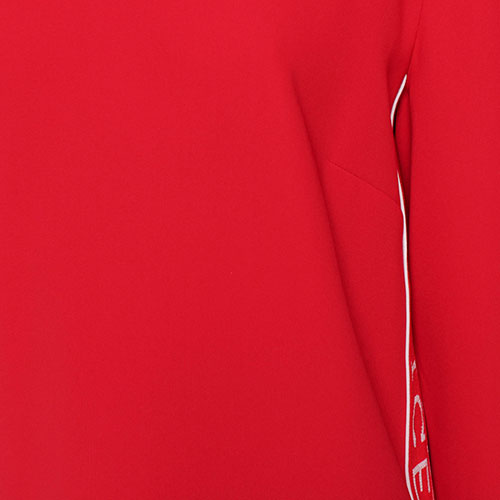 Красное платье Iceberg с фирменным принтом, фото