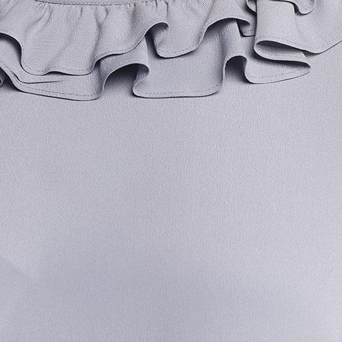 Платье Twin-Set с рюшами голубого цвета, фото