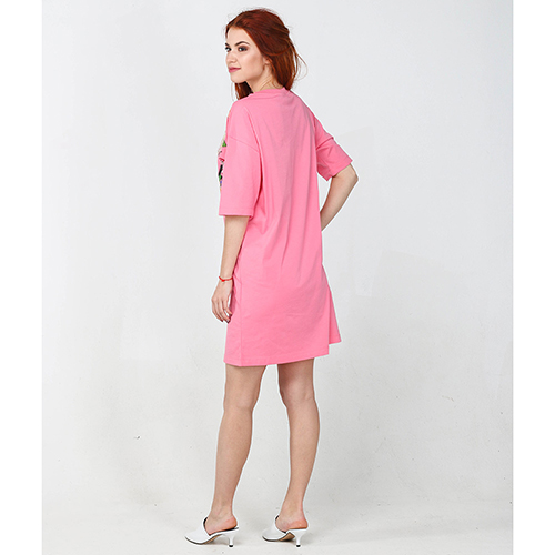 Платье Love Moschino розового цвета до колен, фото
