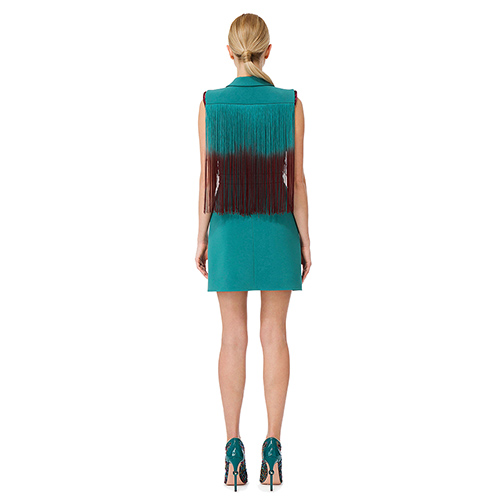 Зеленое платье Elisabetta Franchi до колен, фото