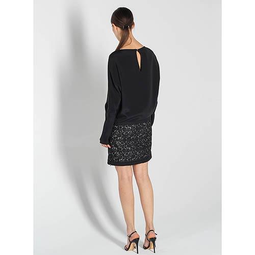 Платье Antonio Berardi черного цвета с принтованной юбкой, фото
