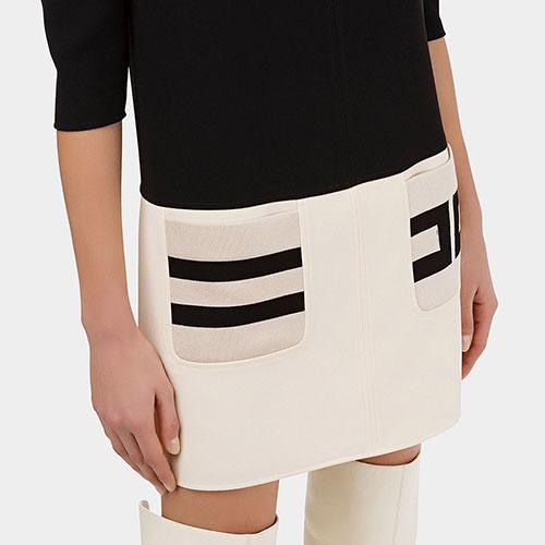 Короткое платье Elisabetta Franchi двухцветное, фото