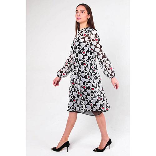 Платье Emporio Armani в принт с сердцами, фото