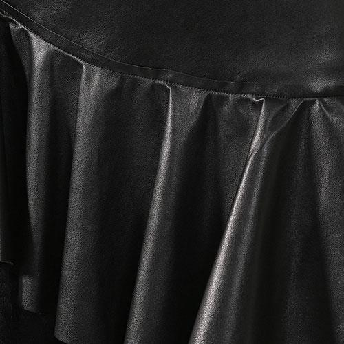 Черное платье Ermanno Scervino с асимметричными оборками, фото