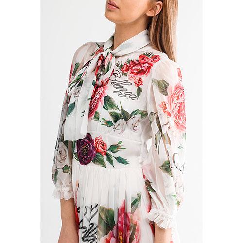 Шеловое платье-макси Dolce&Gabbana с воротником, фото
