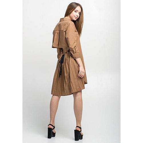 Платье-рубашка Kaos коричневого цвета, фото