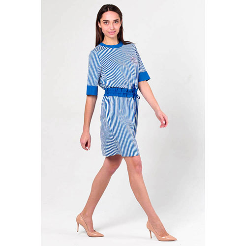 Платье в полоску Love Moschino с поясом, фото