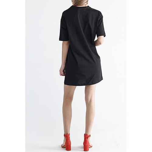 Черное платье Love Moschino с ярким принтом, фото