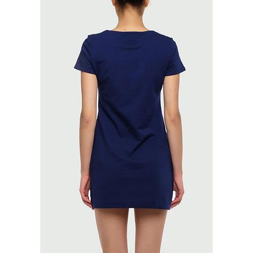 Синее платье Love Moschino с принтом, фото