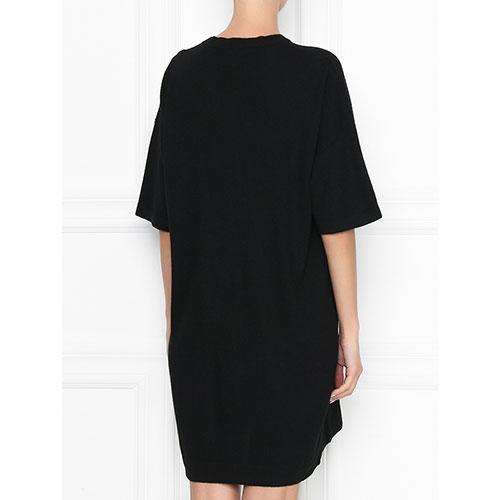 Черное платье Love Moschino с рисунком, фото