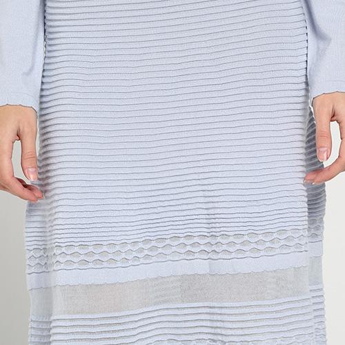 Трикотажное голубое платье Blugirl Blumarine с длинным рукавом, фото