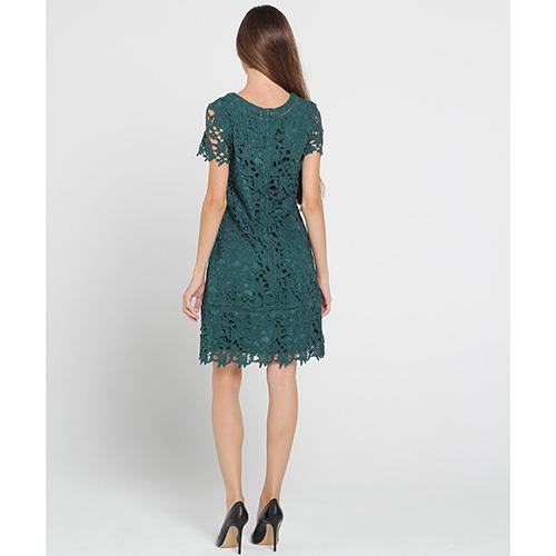 Зеленое кружевное платье Blugirl Blumarine с коротким рукавом, фото