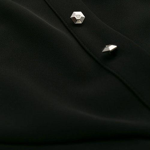 Платье на запах Philipp Plein с серебристым декором, фото