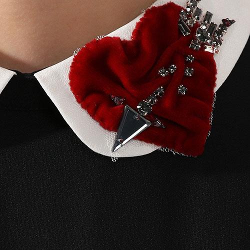 Мини-платье Red Valentino Arrow Heart с подолом-баской, фото