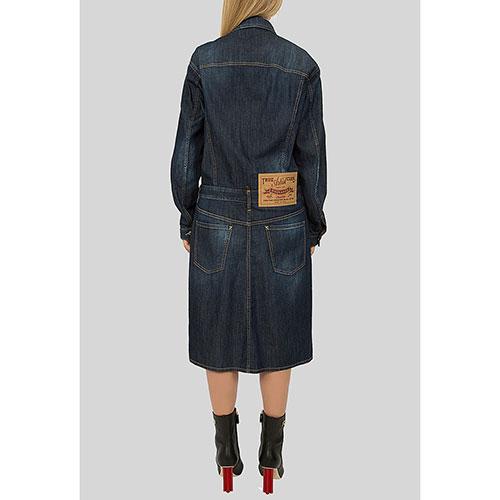 Джинсовое платье Dsquared2 темно-синего цвета, фото