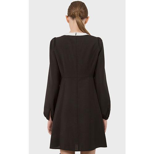 Платье N21 черного цвета со стразами, фото