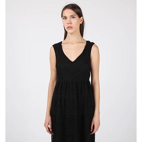 Кружевное платье-сарафан Red Valentino черного цвета, фото