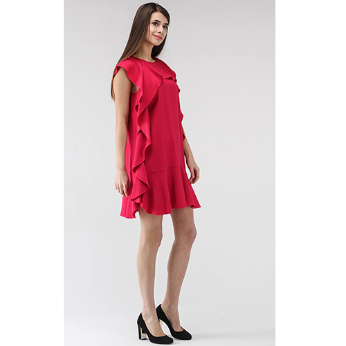 Красное платье Red Valentino с воланами, фото