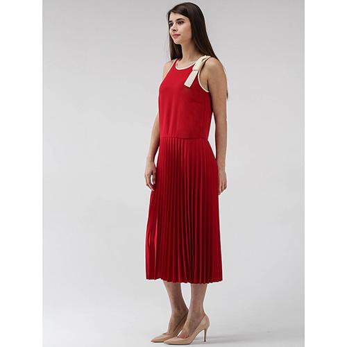Платье-миди Red Valentino с плиссированной юбкой, фото