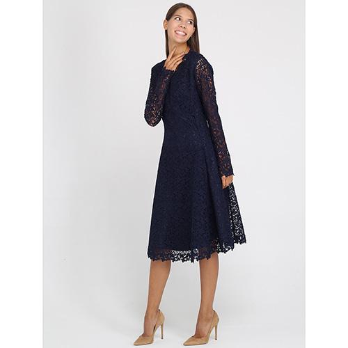 Платье из кружева Ermanno Ermanno Scervino синего цвета, фото