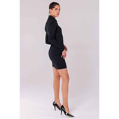 Платье черного цвета Red Valentino с декоративной шнуровкой, фото