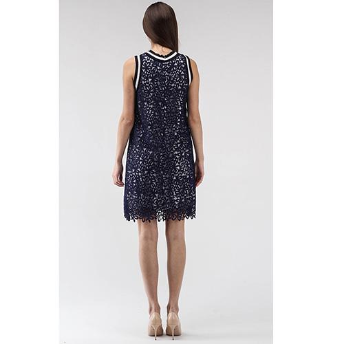 Платье Ermanno Scervino из синего кружева, фото