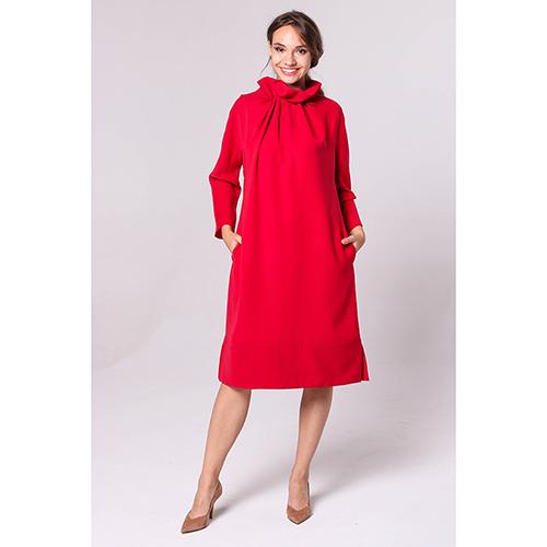 Платье Emporio Armani красного цвета с поясом, фото