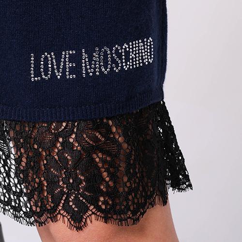 Синее платье Love Moschino с рукавом три четверти, фото