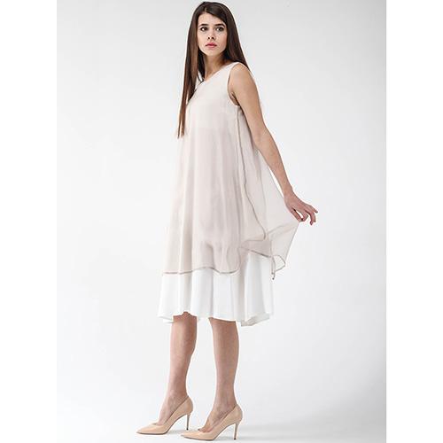 Платье Peserico бежевого цвета без рукава, фото