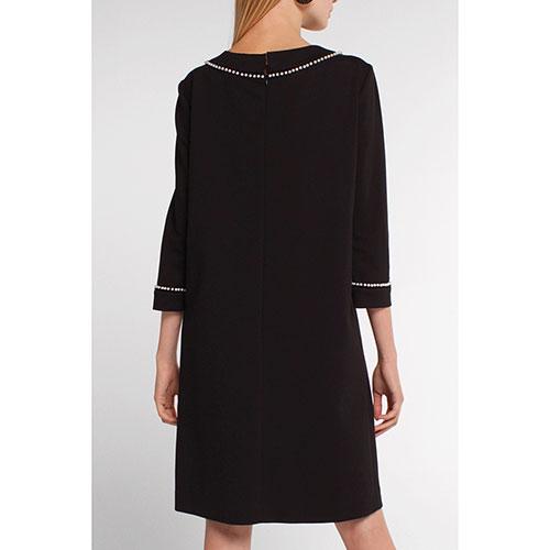 Платье Twin-Set черное с декором-жемчугом, фото