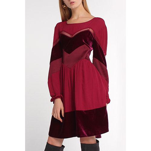 Бордовое платье Twin-Set до колен, фото