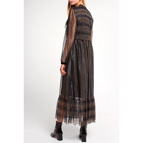 Длинное платье Twin-Set с кружевными вставками, фото