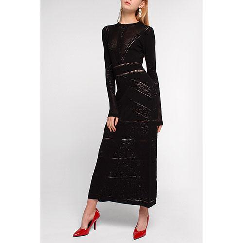 Черное платье Twin-Set длинное, фото