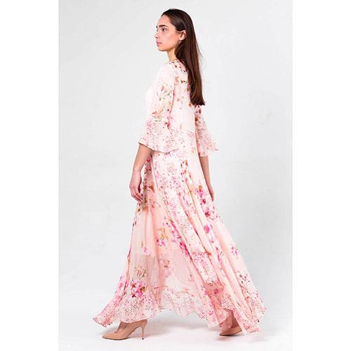 Длиное платье Twin Set с цветочным принтом, фото