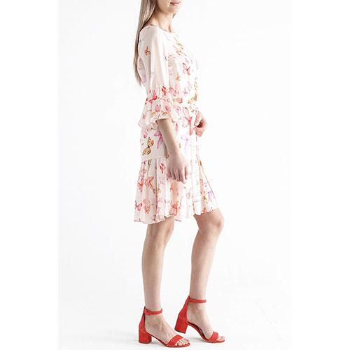 Розовое платье Twin-Set с бабочками, фото