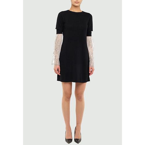 Черное платье Twin-Set со съемными рукавами, фото