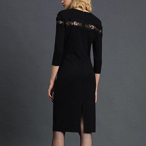 Платье-футляр Twin-Set с кружевной вставкой, фото