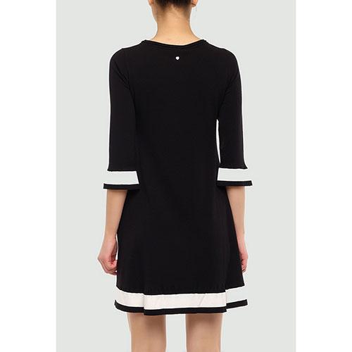 Черное платье Twin-Set расклешенного кроя, фото