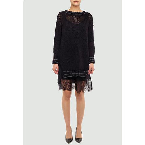 Черное платье Twin-Set с длинным рукавом, фото