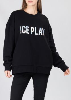 Свитшот из хлопка Iceberg Ice Play с логотипом, фото