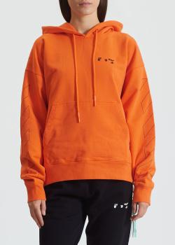 Оранжевое худи Off-White из органического хлопка, фото