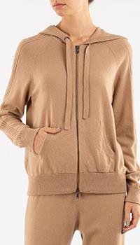 Кашемировое худи Repeat Cashmere бежевого цвета, фото