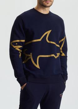 Хлопковый свитшот Paul&Shark с акулой, фото