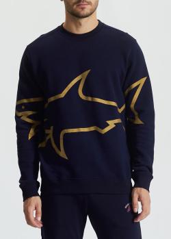 Синий свитшот Paul&Shark с рисунком акулы, фото