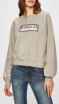 Серый свитшот Pinko с логотипом, фото