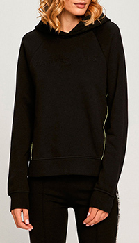 Черное худи Karl Lagerfeld с контрастными деталями, фото
